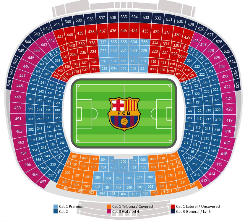 Vintage Stadium Lights: Camp Nou Stadio Plattegrond FC Barcelona