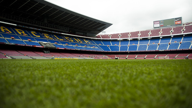 camp nou voetbalveld