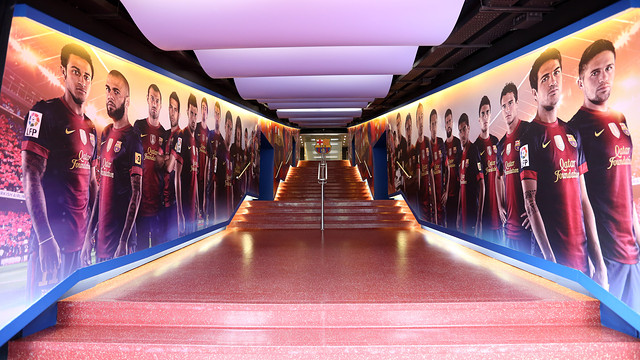 tour camp nou spelerstunnel