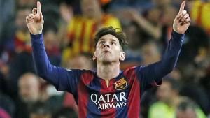 FC Barcelona met 1,5 been in de halve finale na de 3-0 overwinning