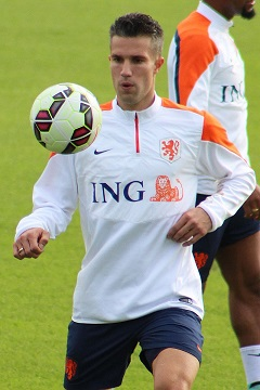 Robin van Persie in Camp Nou