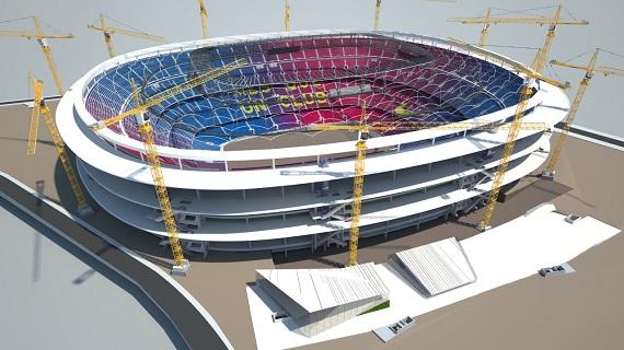 Verbouwing Camp Nou einde derde zomer
