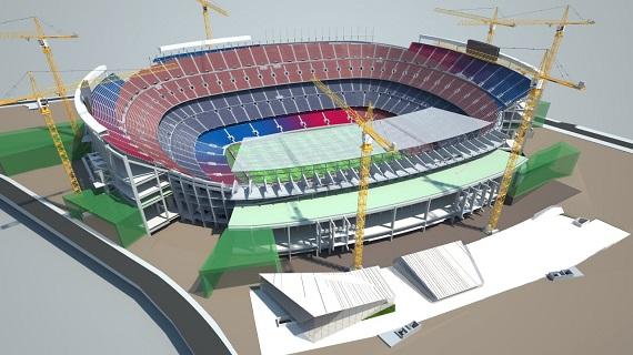 Verbouwing Camp Nou einde eerste seizoen