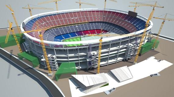 Verbouwing Camp Nou einde tweede seizoen