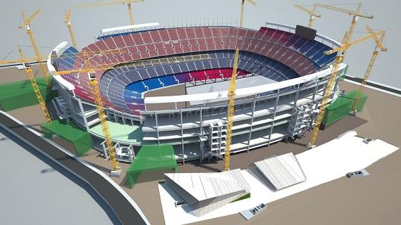 Verbouwing Camp Nou einde tweede zomer