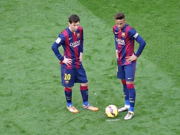 Messi en Neymar